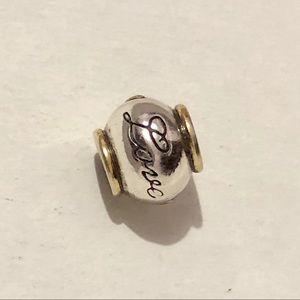 Jewelry - Brighton Love bead in gold & silver